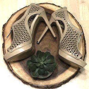 Carlos by Carlos Santana tan cut out heel